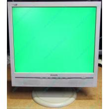 """Б/У монитор 17"""" Philips 170B с колонками и USB-хабом в Череповце, белый (Череповец)"""